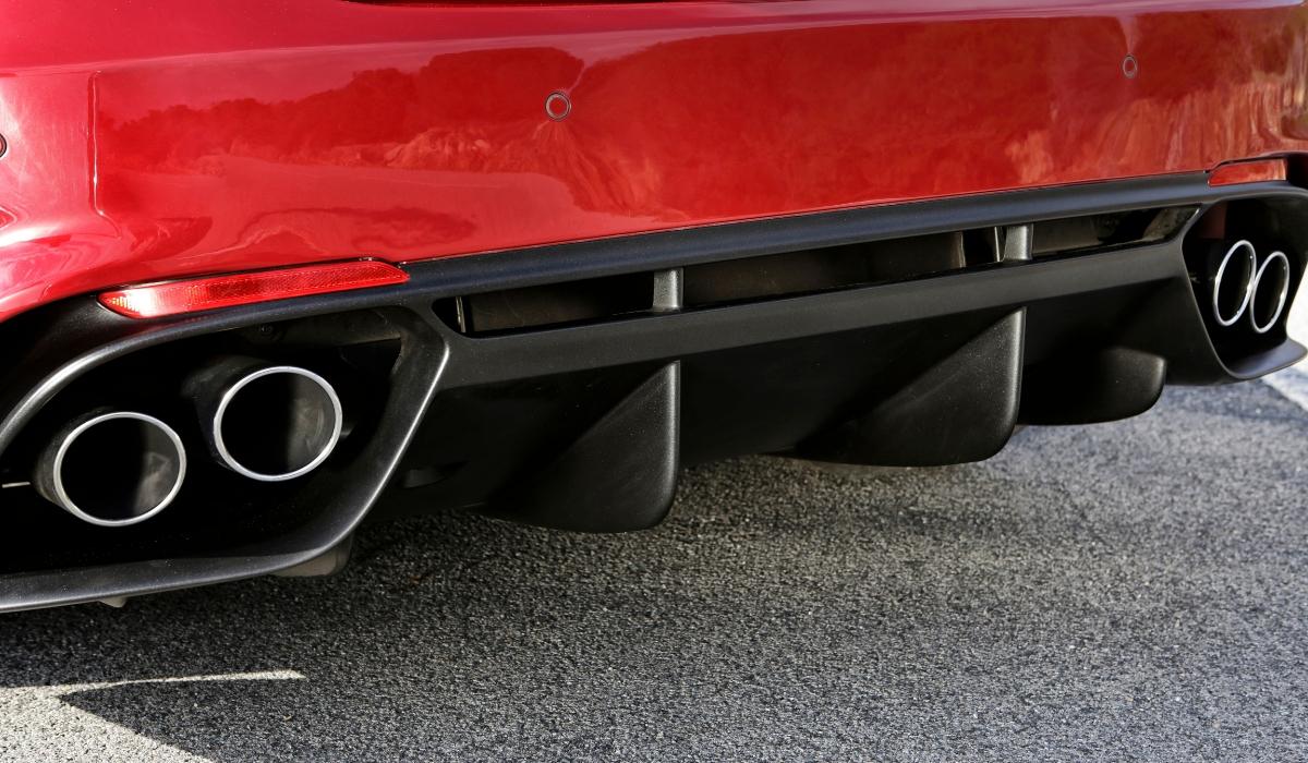 Alfa Romeo Giulia Quadrifoglio terminali di scarico