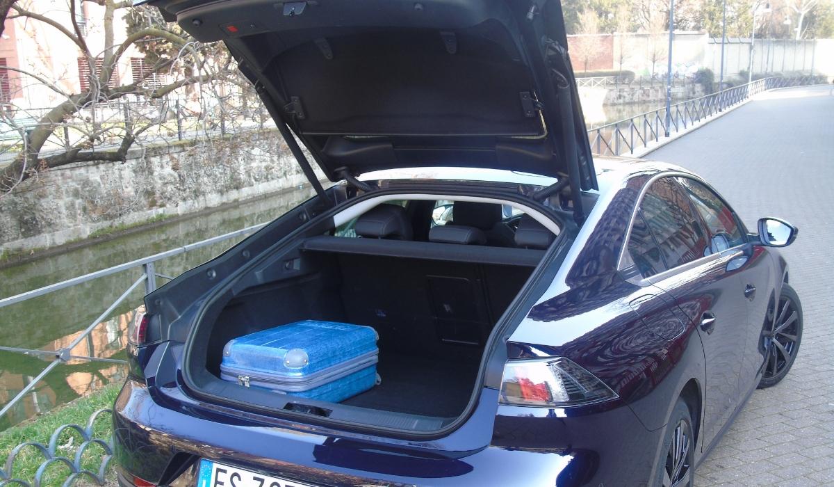 Nuova Peugeot 508 bagagliaio