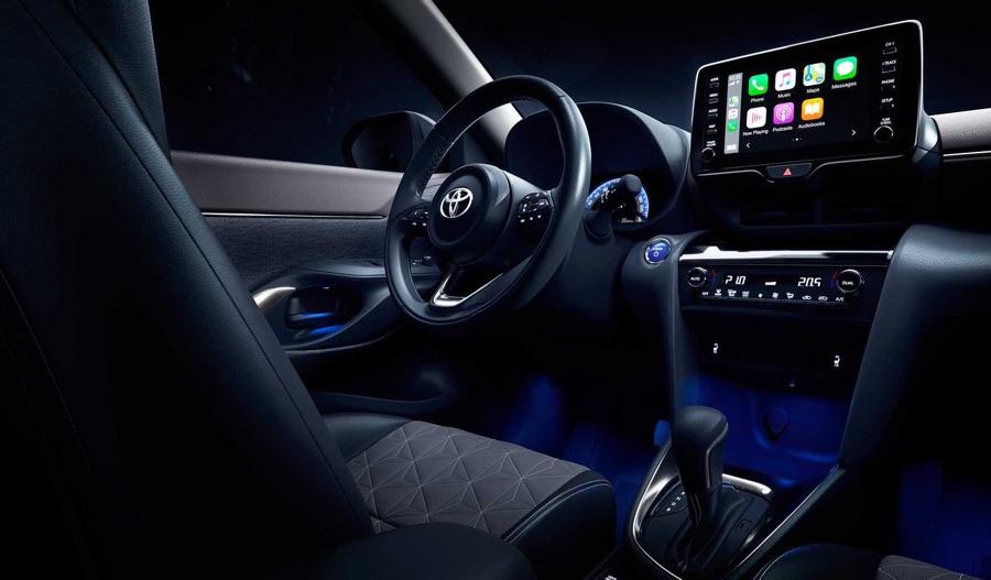 Infotainment di Toyota Yaris Cross 2021