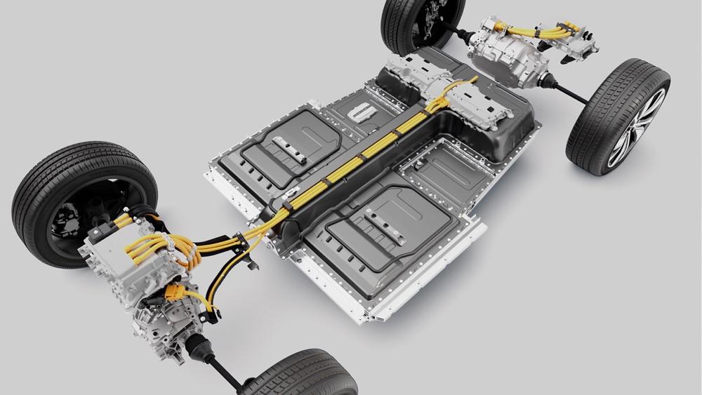 Batteria di Volvo XC40 Recharge elettrica