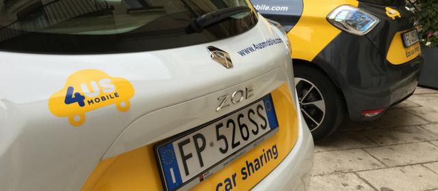 4USMobile car sharing elettrico Salento come funziona