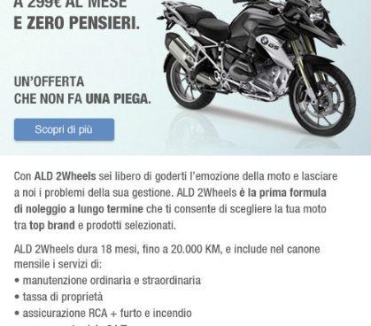 ALD offre un nuovo servizio di noleggio di moto