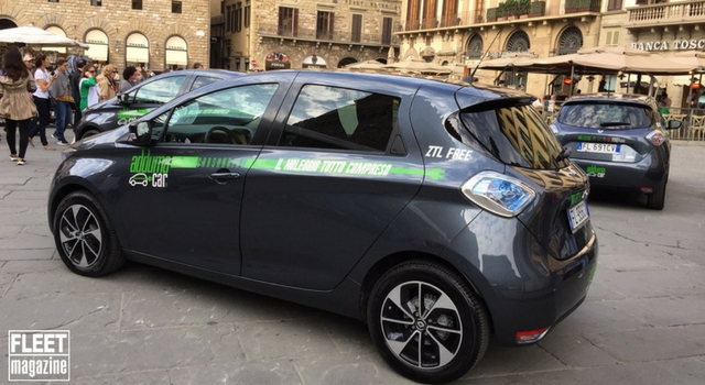 Le Renault Zoe del car sharing Adduma Car