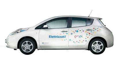Auto elettriche Enel Nissan Leaf