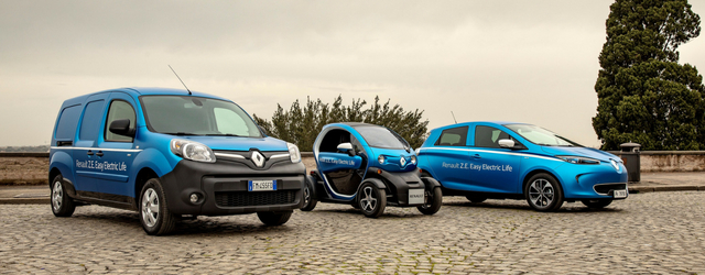Auto elettriche Renault gamma