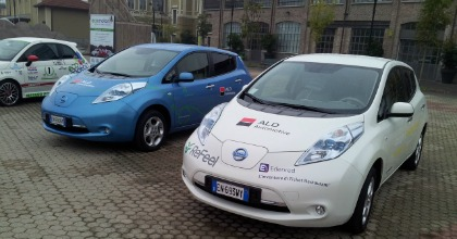 Auto elettriche esposte a Citytech