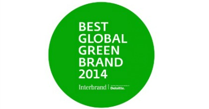 Best global green brand Interbrand 2014