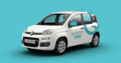 La Fiat Panda del car sharing Ubeeqo