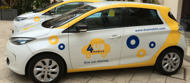 La Renault Zoe del car sharing 4USMobile