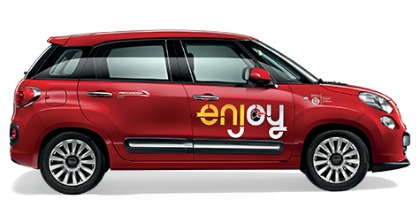 Enjoy Fiat 500L car sharing