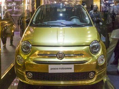 Fiat 500 Paco Rabanne oro