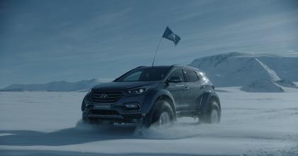 Hyundai Santa Fe traversata antartica