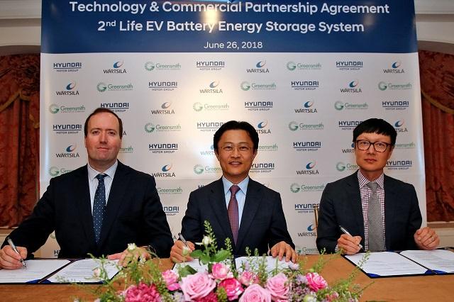 Hyundai e Wartsila, batterie auto elettriche