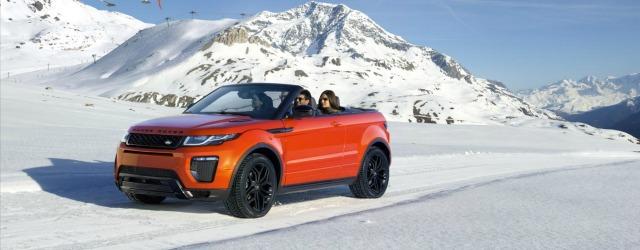 Jaguar Land Rover Winter Tour 2017 Range Rover Evoque Convertibile