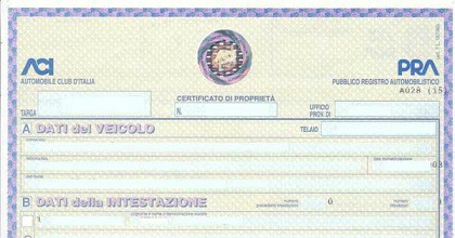 Libretto di circolazione certificato di proprietà addio