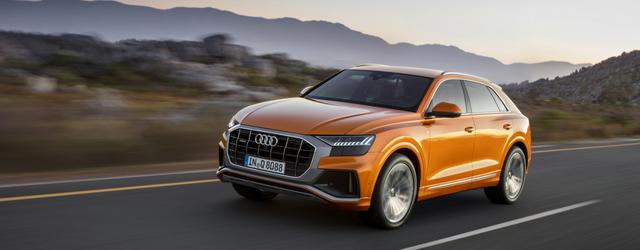 Nuova Audi Q8 su strada