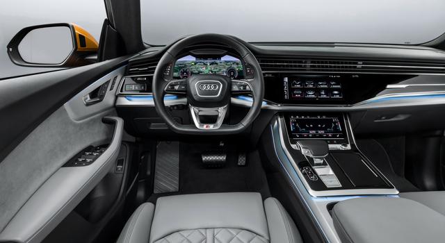 Nuova Audi Q8 2019 abitacolo