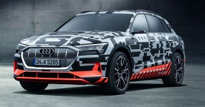 Nuova Audi e-tron 2018 suv elettrico al salone di Ginevra 2018