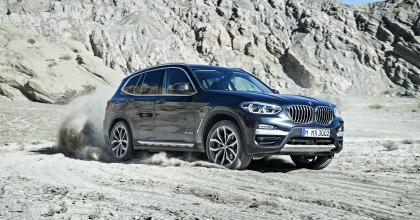 Nuova BMW X3 2017 fuoristrada