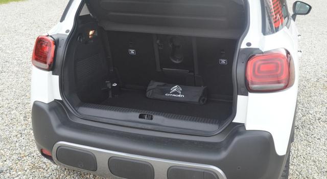 Nuova Citroën C3 Aircross 2018 bagagliaio