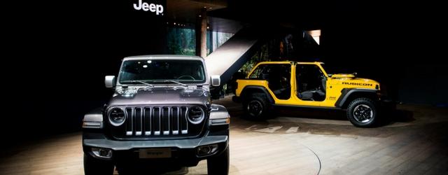 Nuova Jeep Wrangler statica al salone di Ginevra 2018