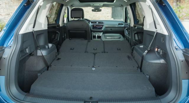 Nuova Volkswagen Tiguan Allspace capacità di carico