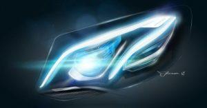 Nuova ammiraglia Mercedes luci