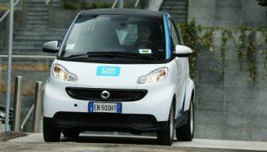 Nuove Smart Car2go in azione