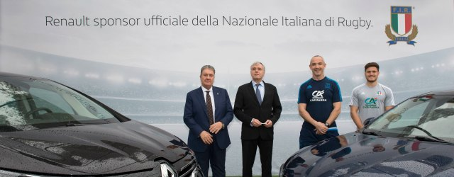 Renault sponsor nazionale di rugby italiana