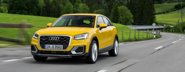 Viaggio a Gressoney Audi Q2 gialla