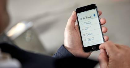 App smartphone digital key Volvo