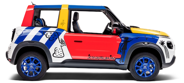 La Art Car E-Mehari personalizzata dallo stilista de Castelbajac