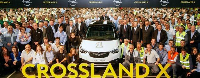 avvio della produzione per Opel Crossland X