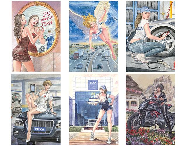 I calendari Texa di Milo Manara