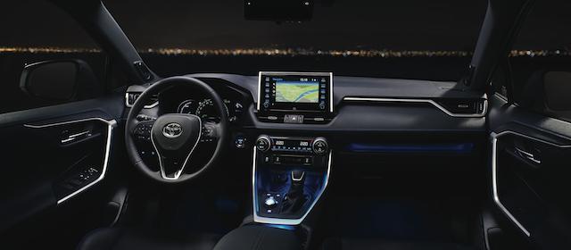 Dettaglia della plancia del Nuovo Toyota Rav4