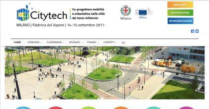 Citytech 2017: dettaglio della schermata relativo al sito Internet