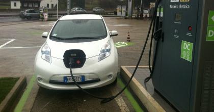 colonnina fast charge ENEL Nissan futuro auto elettriche
