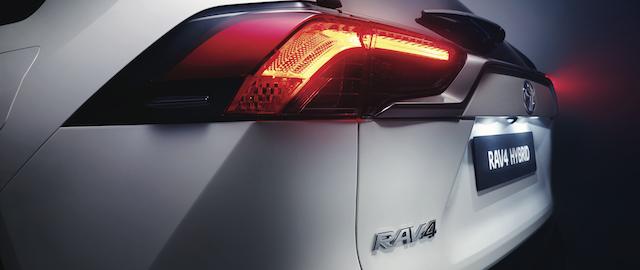 Dettaglio del posteriore del Nuovo Toyota Rav4