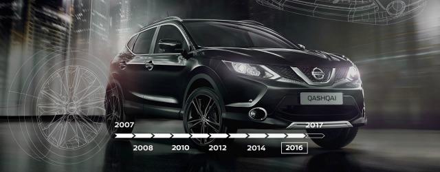 dieci anni Nissan Qashqai