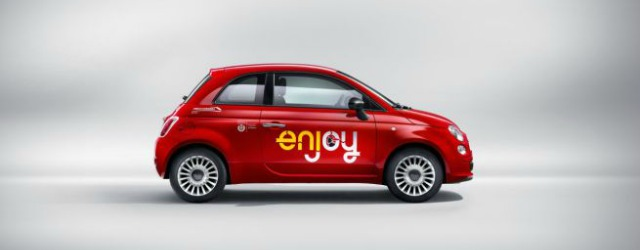 Fiat 500 - car sharing Enjoy