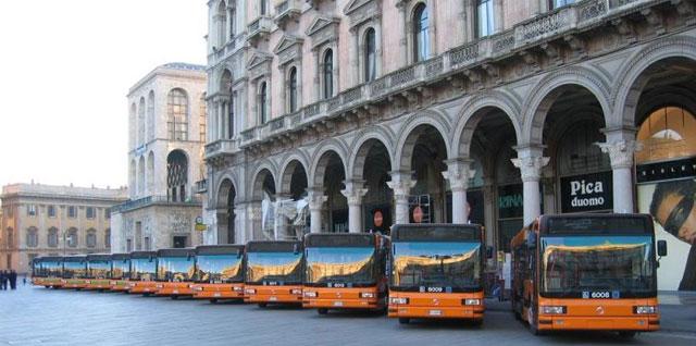 flotta di autobus elettrici a milano nel 2030