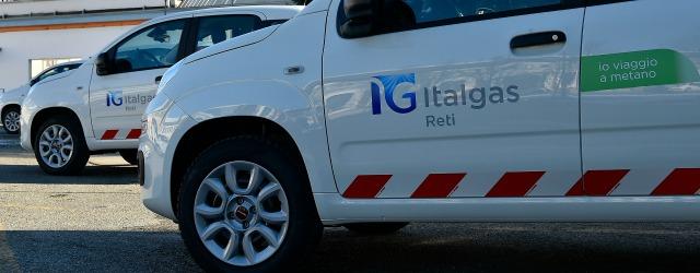flotta aziendale Italgas Fiat Panda a metano FCA