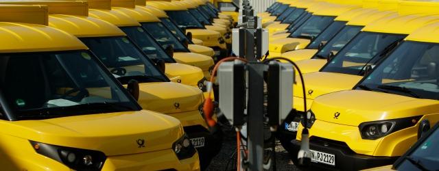 i furgoncini elettrici Streetscooter Work di Deutsche Post