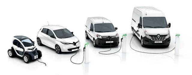 La gamma 100% elettrica comprende Renault ZOE, Twizy, Kangoo e Master