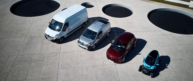 La gamma completa dei veicoli elettrici Renault Z.E.