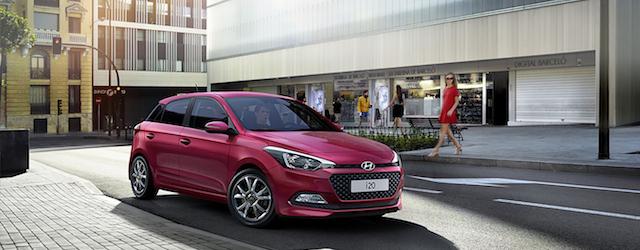 L'aspetto esteriore di Hyundai i20 nella versione Blackline