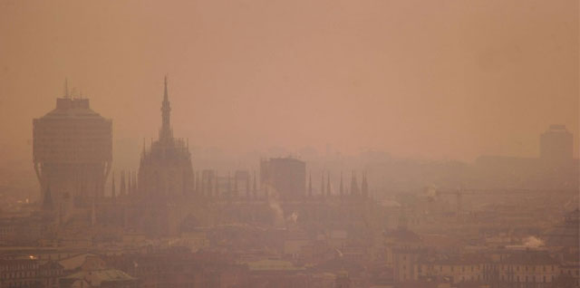 inquinamento a Milano per smog