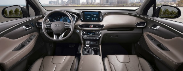 interni nuova Hyundai Santa Fe 2018
