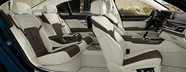 Il dettaglio degli interni su nuova BMW Serie 7 40 Years Edition