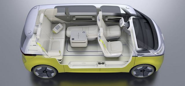 Gli interni del nuovo Volkswagen Buzz